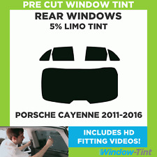 Pre Cut Window Tint - Porsche Cayenne 2011-2016 - 5% Limo Rear