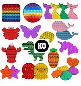 Push Pop Fidget Kids Toy It Bubble Special Needs Silent Sensory Autism Rainbow