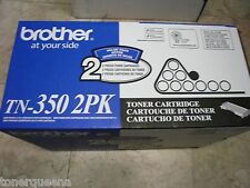2 GENUINE Brother TN-350 TONER Twin Pack HL2040 MFC7420 MFC7220 MFC7820 Printer
