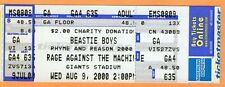 2000 Beastie Boys Rage Against the Machine Unused Ticket Giants Stadium NJ