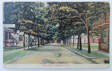 VINTAGE 1909 POSTCARD MAPLE STREET SALAMANCA NY NEW YORK