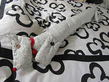 craft made draught excluder sausage dog dachsund, extra long, unique design