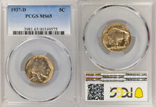 1937-D PCGS MS65 UNCIRCULATED BUFFALO NICKEL COIN ! EXCELLENT HIGHER GRADE !