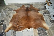 BRINDLE EXOTIC-  Rug HAIR ON SKIN  Leather cowhide 4368-   73'' x  66''
