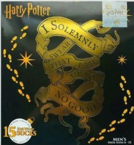 NEW 2020 Men's Harry Potter 15 Days of Socks Christmas Advent Calendar