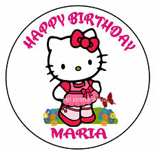 Hello Kitty edible image rice paper birthday party cake topper personalised 19cm