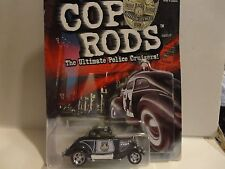 Hot Wheels Cop Rods Series 1 Jefferson City MO. 3-Window '34 w/Real Riders
