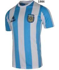 RETRO VINTAGE ARGENTINA WORLD CUP 1986 MARADONA -10 SOCCER JERSEY HOME SHIRT