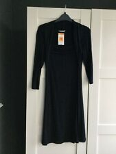 MARKS & SPENCER BLACK TIE LONG SLEEVED DRESS SIZE 10 DAY PARTY EVENING PARTY NEW
