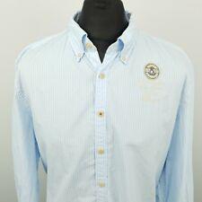 Gaastra Mens Shirt 3XL Long Sleeve Blue Regular Fit Striped Cotton NAUTICAL