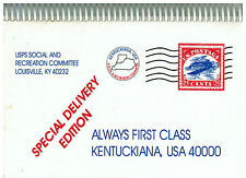 *LOUISVILLE KY 1994 *USPS *POST OFFICE EMPLOYEES COOK BOOK *ALWAYS FIRST CLASS