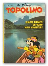 TOPOLINO 1351 - 18 ottobre 1981 + cedola abbonamento