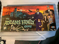 Vintage 1964 ADDAMS FAMILY BOARD GAME No 2269-9 IDEAL VERY Nice! plastic missing