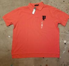 Size 2XB Ralph Lauren Polo Mens Shirt Gothic P Logo Orange big & tall xxl NEW