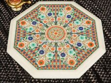"""15"""" Stylish Marble Dining Inlay Table Top Living Home Real Decoration Arts H4382"""