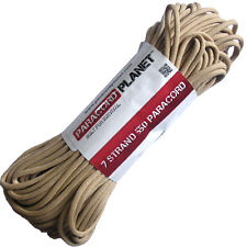 Paracord Mil-Spec 550 7 Strand Type III Parachute Survival Cord 10 25 50 100 FT