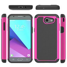 For Samsung Galaxy Express Prime 2 Case Hard Hybrid Rubbe ShockProof Phone Cover