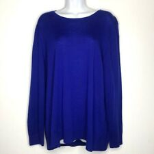 Lord Taylor Royal Blue Extra Merino Wool Sweater