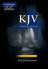 KJV Large Print Text Bible, Black French Morocco Leather KJ653:T: Authorized King James Version by Cambridge University Press (Leather / fine binding, 1995)