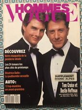 VOGUE HOMMES 117 Mars 1989 Tom Cruise Dustin Hoffman Béatrice Dalle Mode