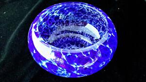 REDUCED! MULUTY, Cobalt Blue Art Glass, Spatter Bowl, Art Deco, Collectors Piece