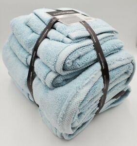Madison Park Signature Splendor 6-piece Cotton Towel Set Blue