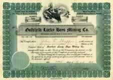 1906 Goldfield Lucky Boys Mining Stock Certificate