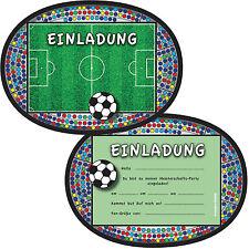 6 Einladungskarten FUSSBALL STADION Für Kindergeburtstag Mottoparty Party  Soccer