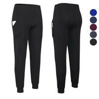 Women's High Waist Yoga Long Pants Workout Running Gym Athletic with Pockets