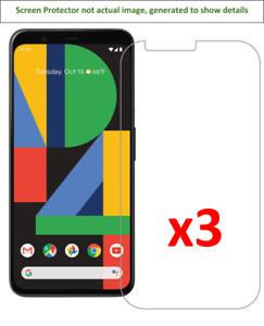 3x Google Pixel 4 XL Screen Protector w/ cloth