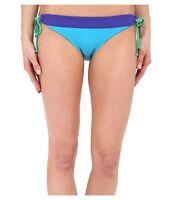Prana Saba Womens Swimwear Tie Side Hipster Bikini Bottom Vivid Blue Size XS