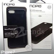 """Incipio DualPRO SHINE Brush ALUMINUM Finish Hard Case iPhone 8 7 (4.7"""") BLACK"""