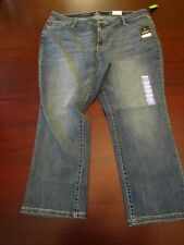 womens st. john's bay easy fit stretch straight jeans 22W short nwt