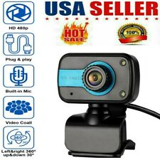 HD Webcam For PC Laptop Desktop Video Computer Web Camera With Microphone USB