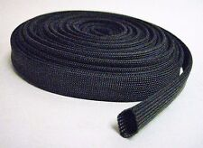 Vulcan Black Heat Protector Woven Sleeve Spark Plug Wire 10mm ID X 25ft new
