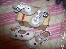 lot fille sandales GBB (CATIMINI ) 24 CUir nacré NEUVES  val 65 eu + babies cui