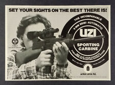 1983 UZI 9mm Sporting Carbine Action Arms vintage print Ad