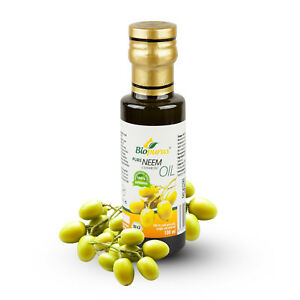Certified Organic Cold Pressed Neem Cosmetic Oil 100ml Biopurus