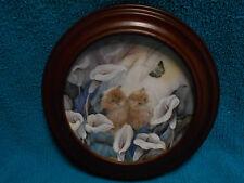 Vanhygan & Smythe Frame Kitty Cat Plate WL George Petal Pals Alluring Lillies