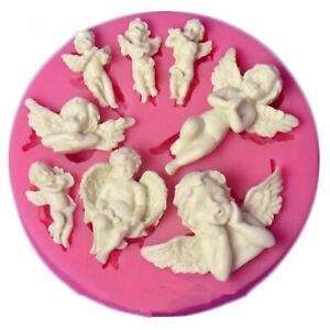 Angel Baby Shape Silicone Mold Fondant Chocolate Sugarcraft Cake Decor DIY Mould
