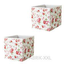 2 Boîtes de Rangement Boxes Roses Regalbox Rosalie pour Expedit