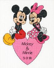Cross Stitch Kit ~ Disney Mickey & Minnie Wedding Record #70-35372