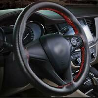DIY Car Steering Wheel Cover PU Leather  38cm steering Needle And Thread UK NEW