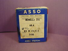 Vtg NOS Benelli Wards Piston Kit_175cc_2nd Oversize_M 236/C4_Genuine_ASSO_60.4mm