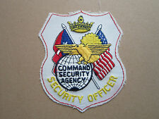 Security Officer Woven Cloth Patch Badge (L1K)