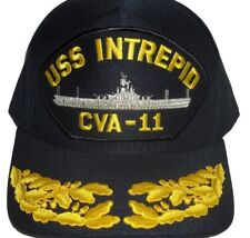 US NAVY CAP ORIGINAL USS INTREPID CV-11 Made in USA Double Eggs 1 Size fits all