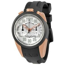 New Mens Bomberg NS39CHTT.0075.2 Swiss Made Chrono Black Rubber Strap Watch