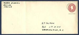 Philippines Stamped Envelope #U8 2¢ McKinley Carmine