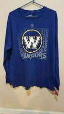 Golden State Warriors NWT Long Sleeve T-shirt tee Size XL 100% Large W Logo