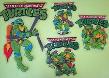Lot 4 Vintage TMNT Ninja Turtles Wall Decorative Donatello Leonardo Raphael Rare